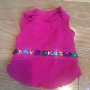 Pink rhinestone dog dress